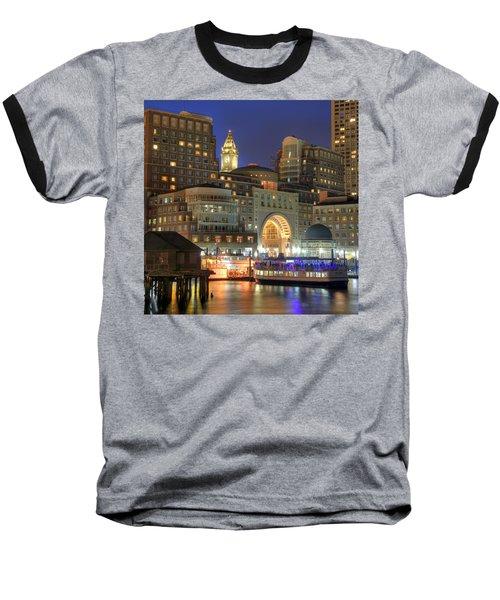 Boston Harbor Party Baseball T-Shirt by Joann Vitali