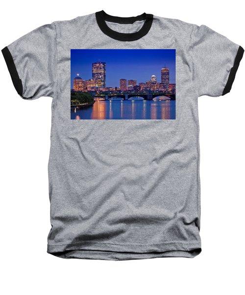 Boston Nights 2 Baseball T-Shirt by Joann Vitali