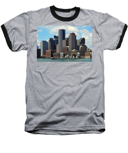 Baseball T-Shirt featuring the photograph Boston Skyline by Randi Grace Nilsberg