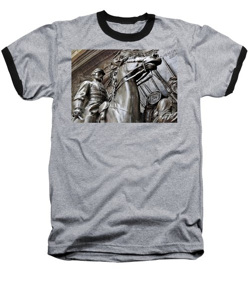 Robert Gould Shaw Memorial Baseball T-Shirt