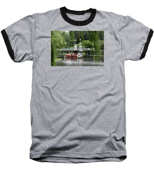 Boston Swan Boat Baseball T-Shirt