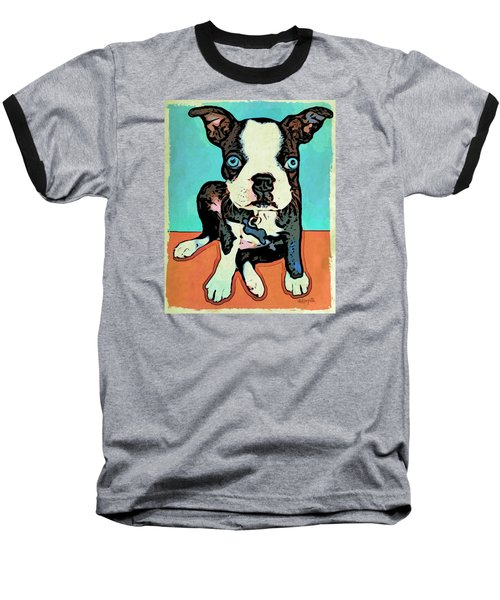 Boston Terrier - Blue Baseball T-Shirt