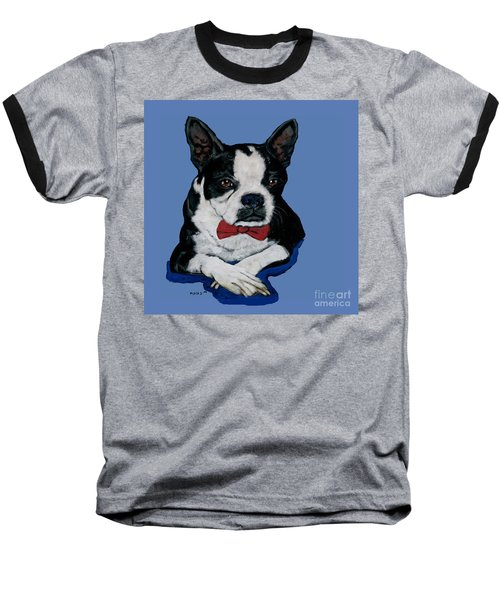 Boston Terrier With A Bowtie Baseball T-Shirt