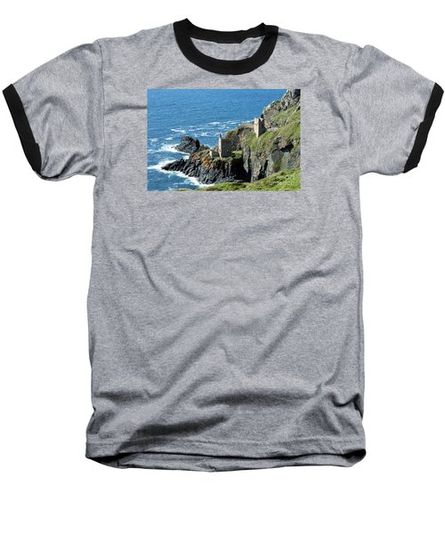 Botallack Crown Engine Houses Cornwall Baseball T-Shirt