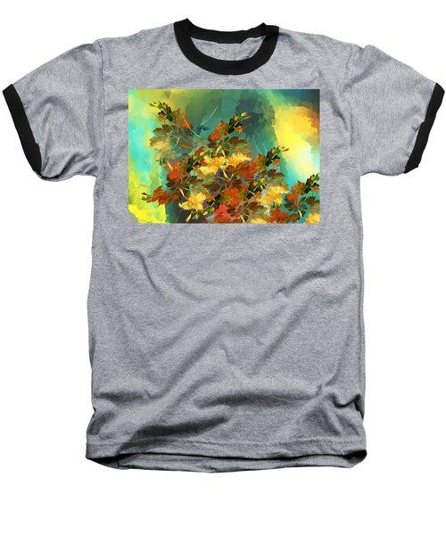 Baseball T-Shirt featuring the digital art Botanical Fantasy 090914 by David Lane