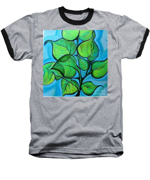 Botanical Leaves Baseball T-Shirt