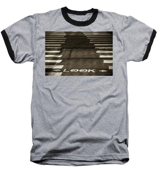 Both Ways - Urban Abstracts Baseball T-Shirt by Steven Milner