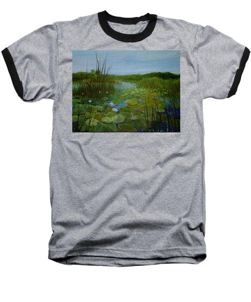 Botswana Lagoon Baseball T-Shirt