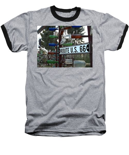 Baseball T-Shirt featuring the photograph Bottle Trees Route 66 by Glenn McCarthy Art and Photography