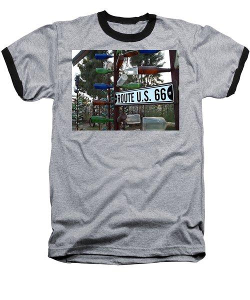 Bottle Trees Route 66 Baseball T-Shirt