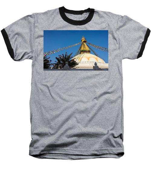 Boudhanath Stupa Baseball T-Shirt