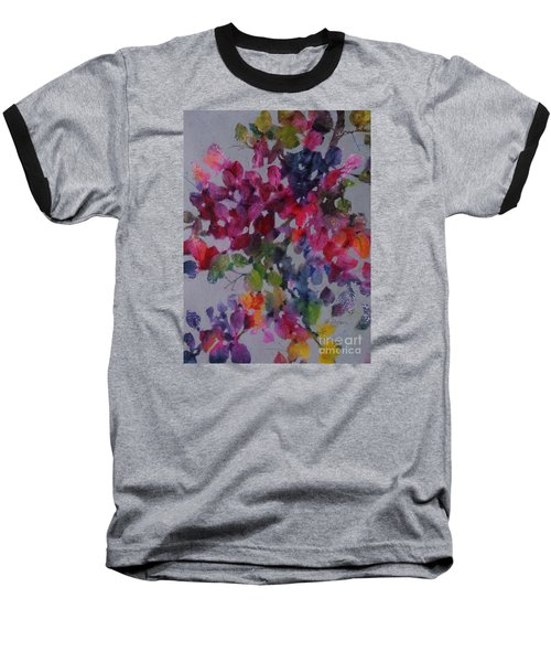 Baseball T-Shirt featuring the painting Bougainvillea by Michelle Abrams