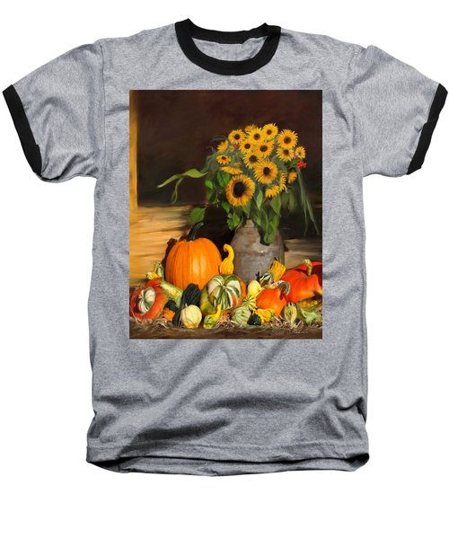 Bountiful Harvest - Floral Painting Baseball T-Shirt