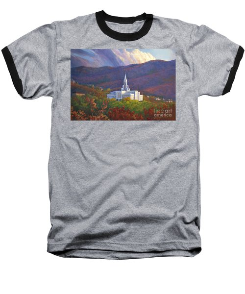 Bountiful Temple In The Mountains Baseball T-Shirt