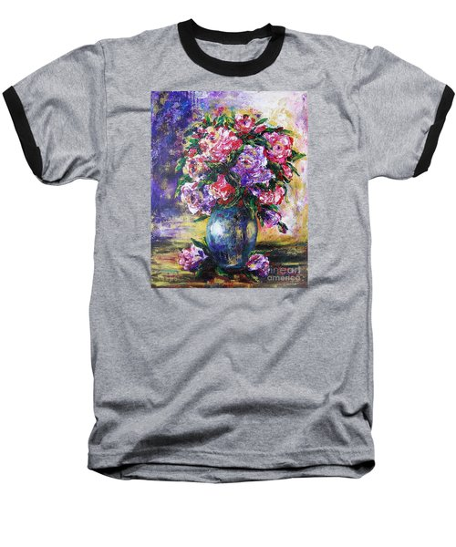 Baseball T-Shirt featuring the painting Bouquet Of Scents by Vesna Martinjak