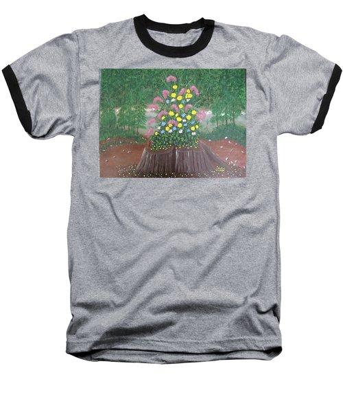 Bouquet On A Stump Baseball T-Shirt