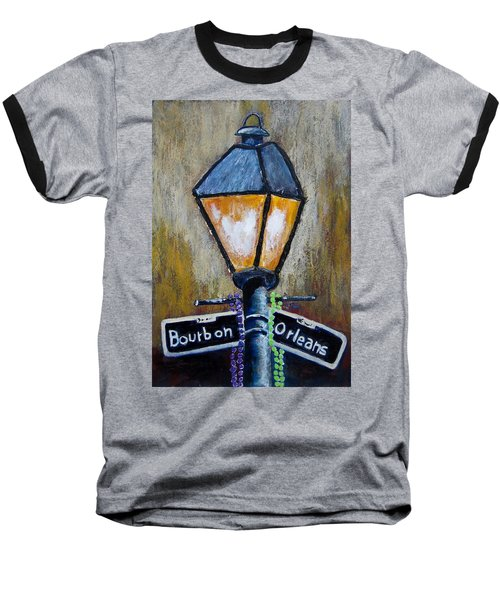 Baseball T-Shirt featuring the painting Bourbon Light by Suzanne Theis