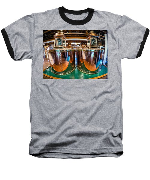 Bourbon Stills Baseball T-Shirt by Alexey Stiop