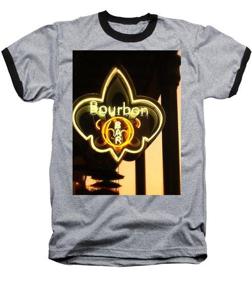 Bourbon Street Bar New Orleans Baseball T-Shirt by Saundra Myles