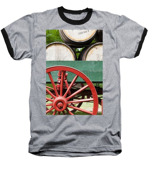Bourbon Wagon Baseball T-Shirt by Alexey Stiop