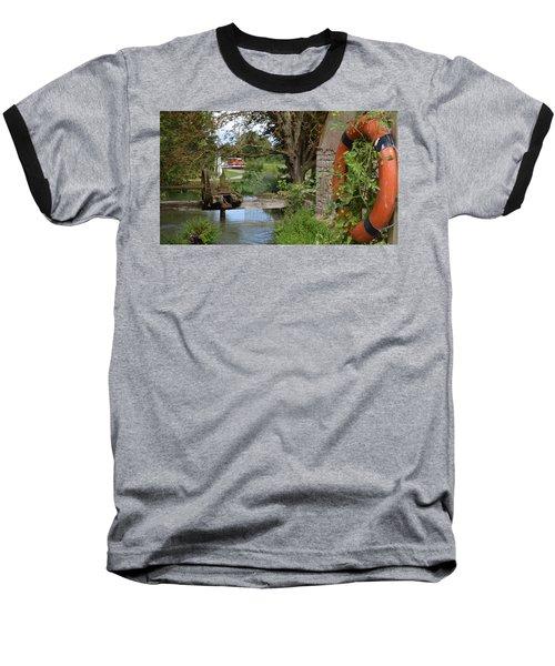 Bouy By Canal Baseball T-Shirt by Cheryl Miller