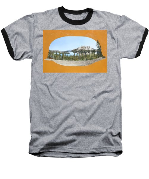 Baseball T-Shirt featuring the painting Bove Island Alaska by Wendy Shoults
