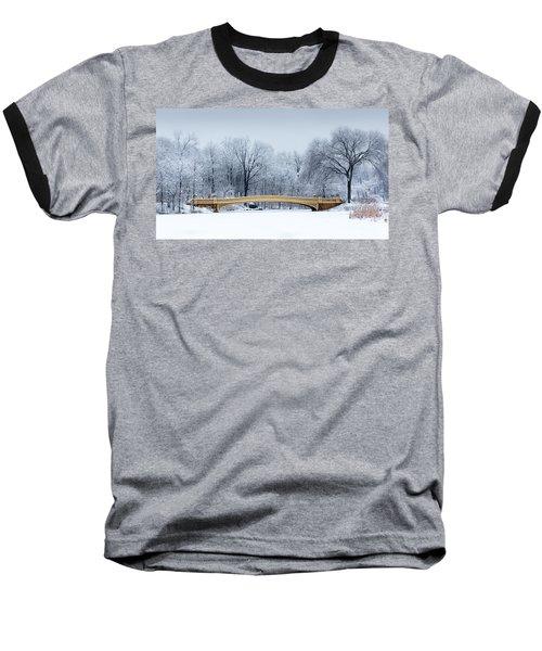 Bow Bridge In Central Park Nyc Baseball T-Shirt
