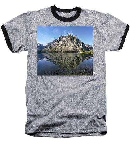 Bow Lake And Crowfoot Mts Banff Baseball T-Shirt