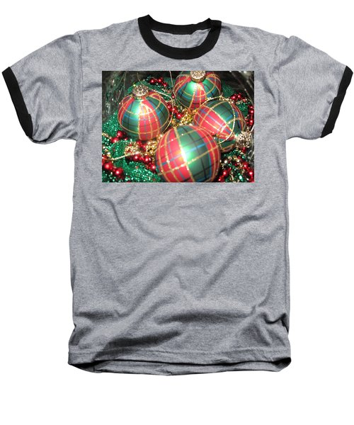 Bowl Of Christmas Colors Baseball T-Shirt
