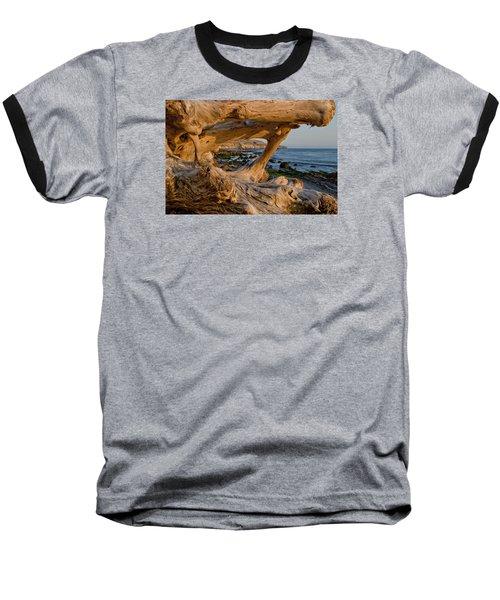 Bowling Ball Beach Framed In Driftwood Baseball T-Shirt