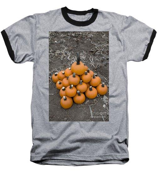 Bowling For Pumpkins Baseball T-Shirt by David Millenheft