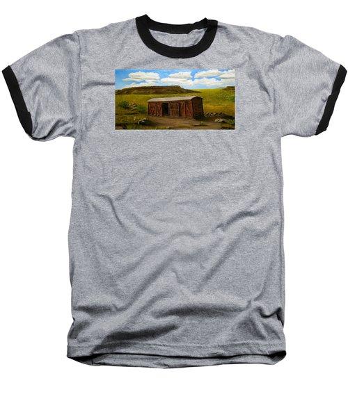 Boxcar On The Plains Baseball T-Shirt by Sheri Keith