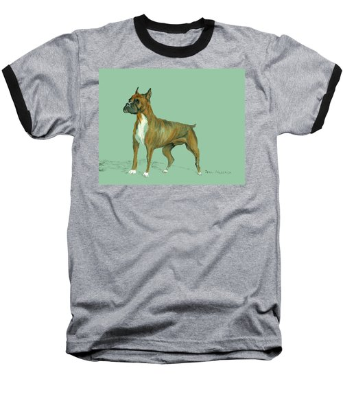 Baseball T-Shirt featuring the pastel Boxer by Terry Frederick