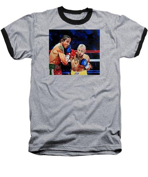 Boxing Baseball T-Shirt by Raymond Perez