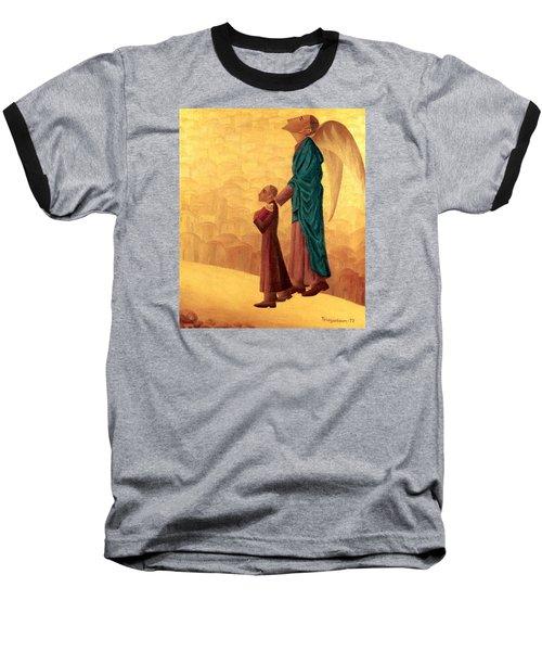 Boy Leading The Blind Angel Baseball T-Shirt