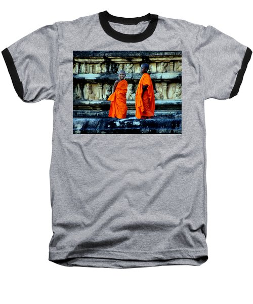 Boys In Training Baseball T-Shirt by Debi Demetrion
