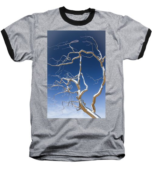 Branches Of Silver Baseball T-Shirt by Steven Bateson