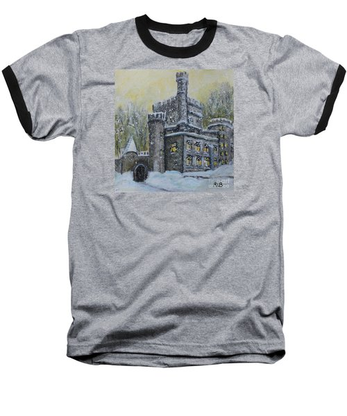 Brandeis University Castle Baseball T-Shirt by Rita Brown