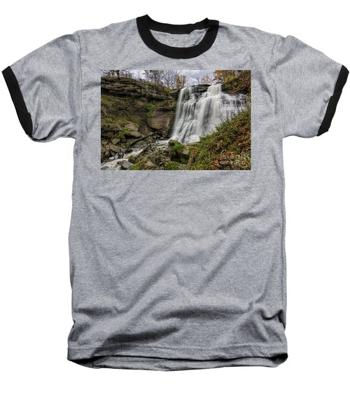 Brandywine Falls Baseball T-Shirt by James Dean