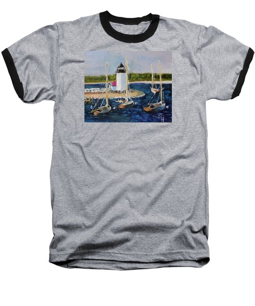 Brant Lighthouse Nantucket Baseball T-Shirt
