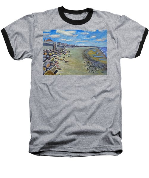 Brant Rock Beach Baseball T-Shirt by Rita Brown