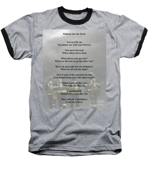 Brave Poem Baseball T-Shirt