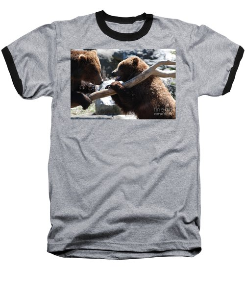 Brawling Bears Baseball T-Shirt by DejaVu Designs
