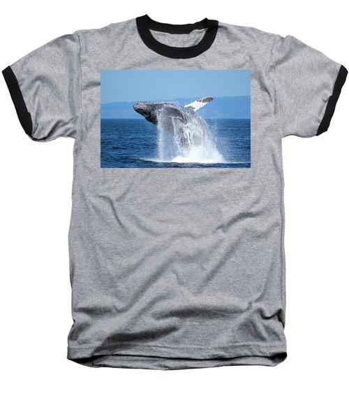 Breaching Humpback Baseball T-Shirt