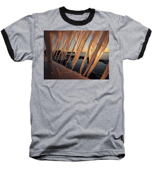 Break Wall Winter Sunrise Baseball T-Shirt