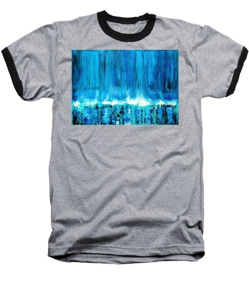 Breakers Off Point Reyes Original Painting Baseball T-Shirt