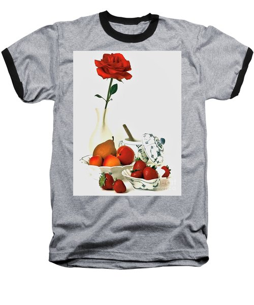 Baseball T-Shirt featuring the photograph Breakfast For Lovers by Elf Evans