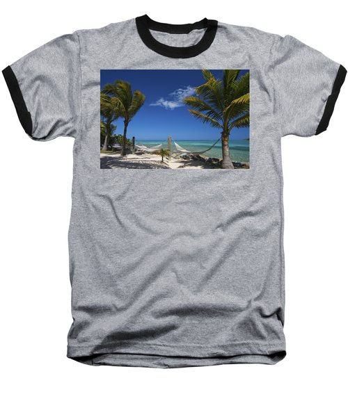 Breezy Island Life Baseball T-Shirt by Adam Romanowicz
