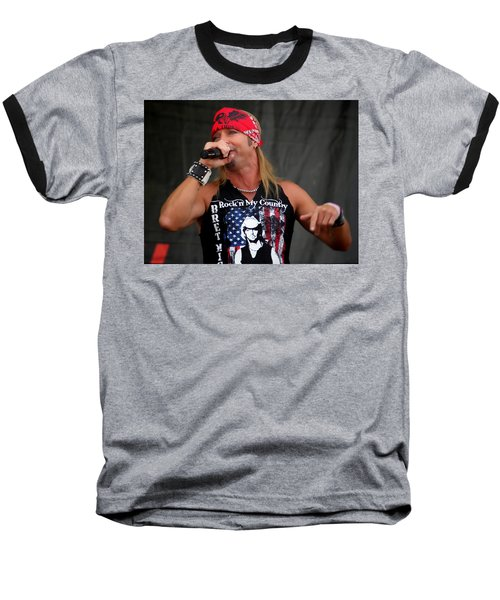 Bret Michaels In Philly Baseball T-Shirt