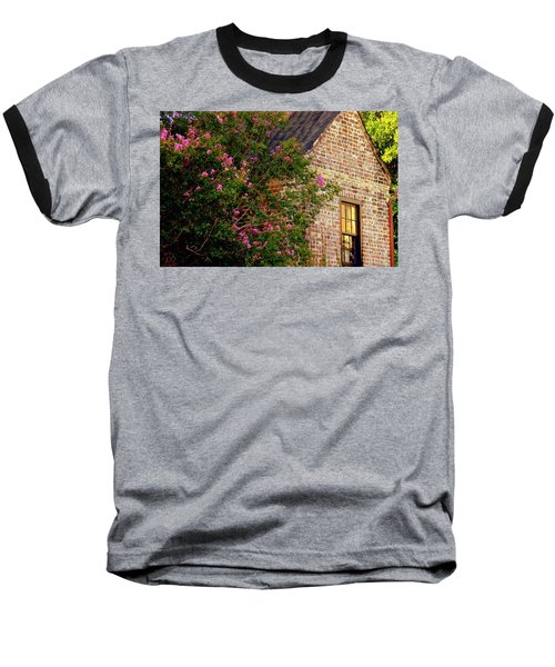 Baseball T-Shirt featuring the photograph Brick And Myrtle by Rodney Lee Williams